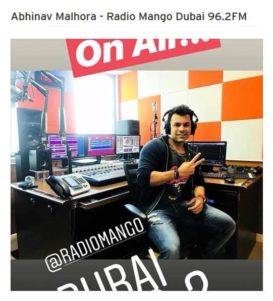 Get Fit Now Best Personal Trainer UAE Abhinav Malhotra on Radio Mango Dubai
