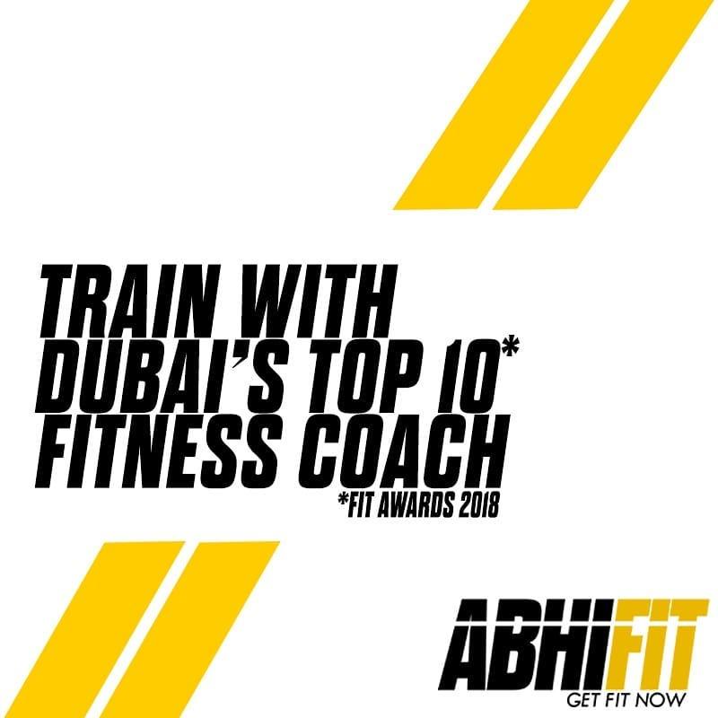 Train With Dubai Top 10 Fitness Coach Abhinav Malhotra Fit Awards 2018